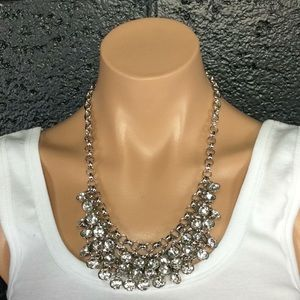 New Beautiful Silver Bling Statement Necklace